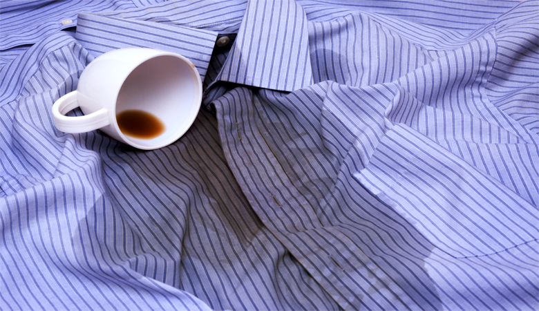 Coffee Stains on Shirt