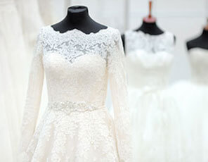 Bridal dress groom suit alterations dry cleaning in for Where to dry clean wedding dress